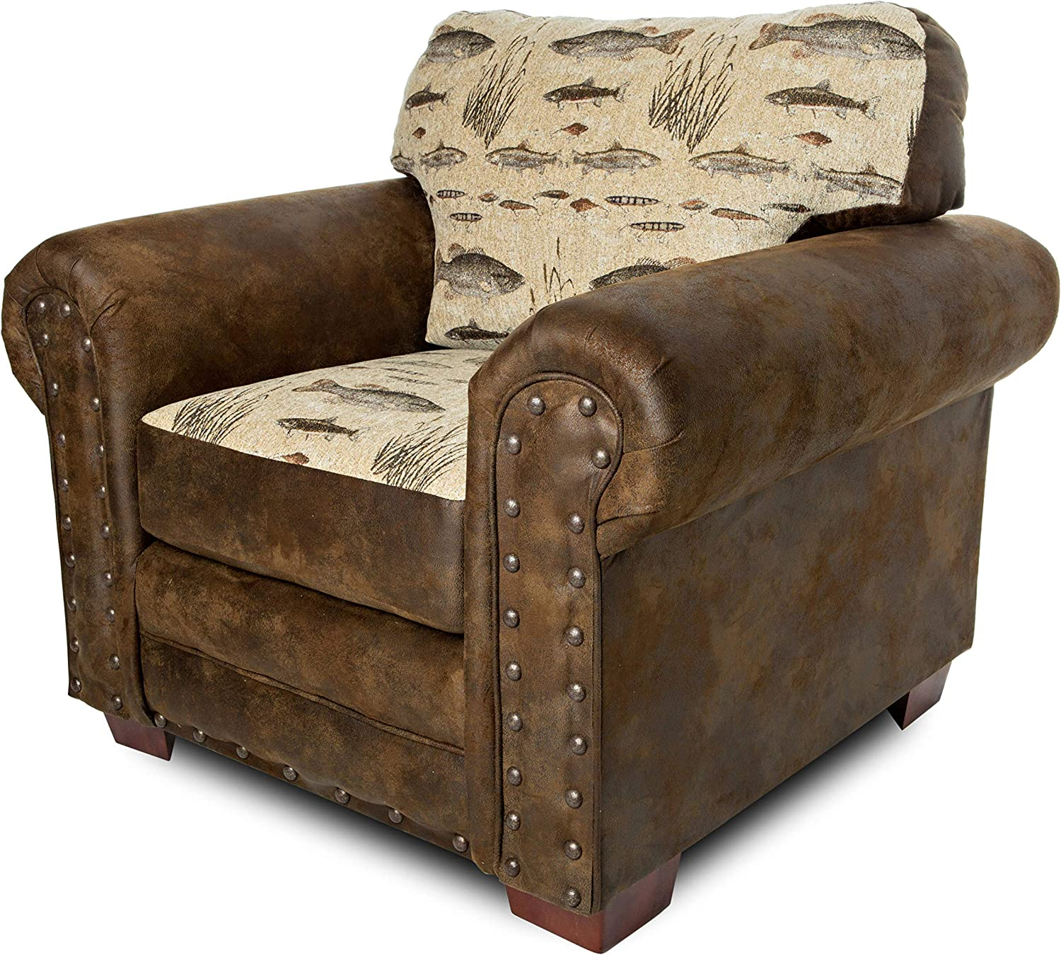 American Furniture Classics Model Angler's Cove Arm chair, Brown