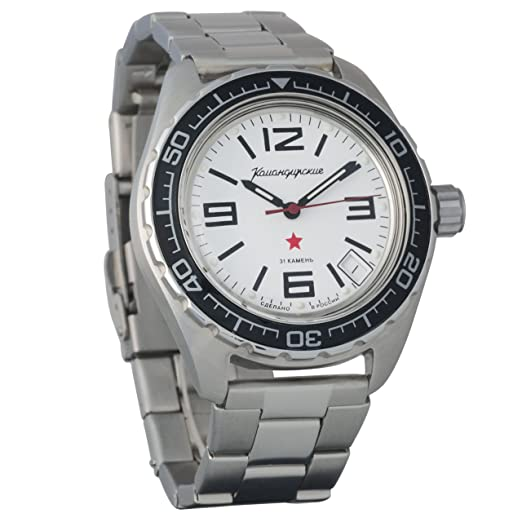 Vostok Komandirskie 200 WR - Reloj de pulsera mecánico automático para hombre # 020716: Amazon.es: Relojes