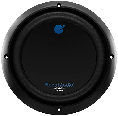 Planet Audio AC8D 1200 Watt, 8 Inch, Dual 4 Ohm Voice Coil Car Subwoofer