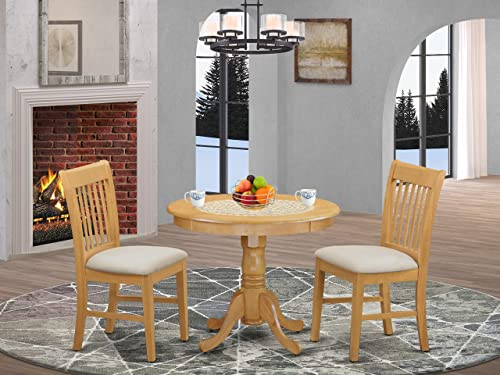 ANNO3-OAK-C 3 Pc Table and chair set – Kitchen Table and 2 Dining Chairs
