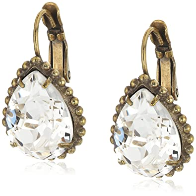 3566a011f Amazon.com: Sorrelli Pear Cut Drop Earrings: Jewelry