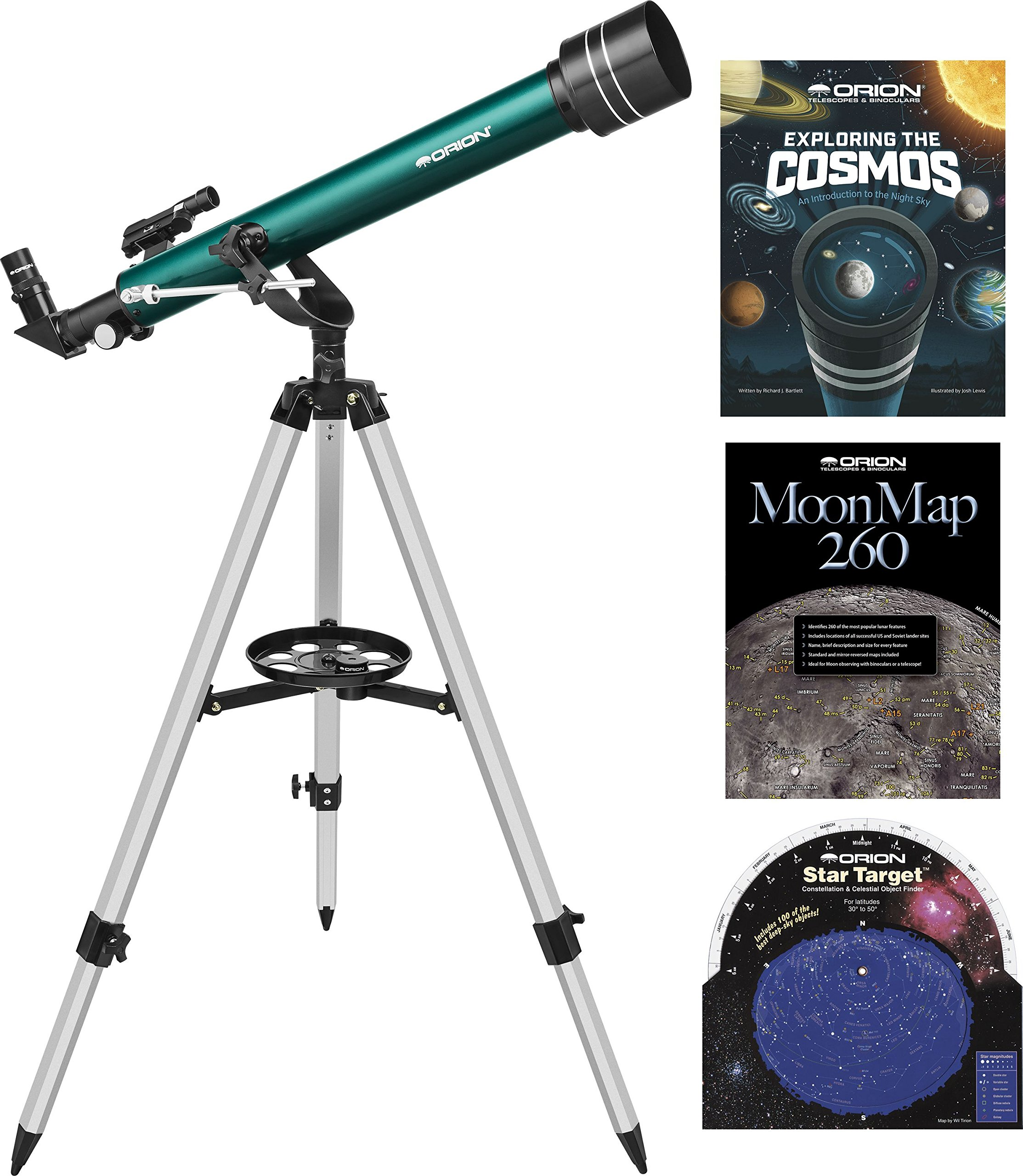 Orion Observer II 60mm AZ Refractor Telescope Starter Kit by Orion