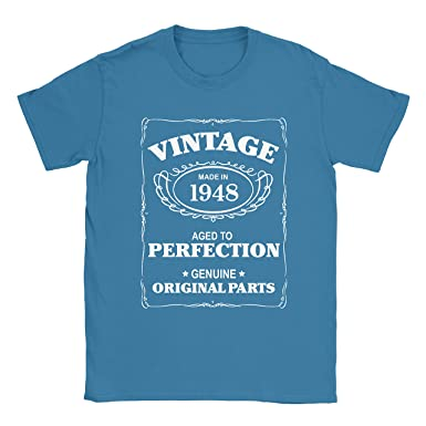 70th Birthday T Shirt Born In 1948 Mens Present Gift Age