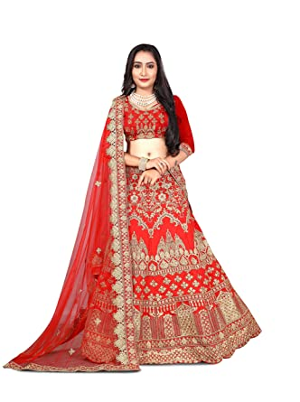 05f0a068c7 Image Unavailable. Image not available for. Colour: Rozdeal Women's Taffeta  Silk Lehenga ...