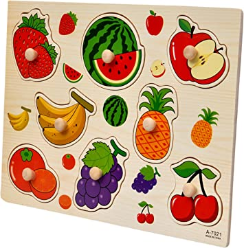 Toyshine Wooden Puzzle Toy, Educational and Learning Toy - Fruit