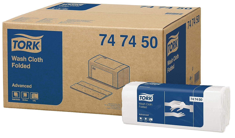 Tork 742100 weiches Waschtuch Premium 1-lagig / extra weiche Pflegetücher für die Pflege von Patienten / strapazierfähig & effizient / 1 x 135 Tücher (19.2 x 30 cm) SCA Tork