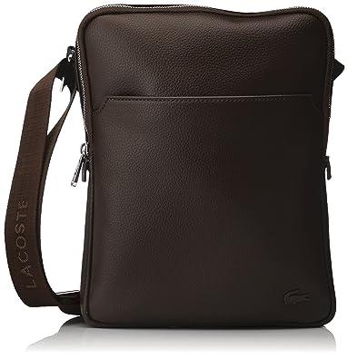 ab5fd77258 Lacoste Sac Homme Access Premium, Bandouliere, Marron (Chocolate Brown),  3.5x26x20