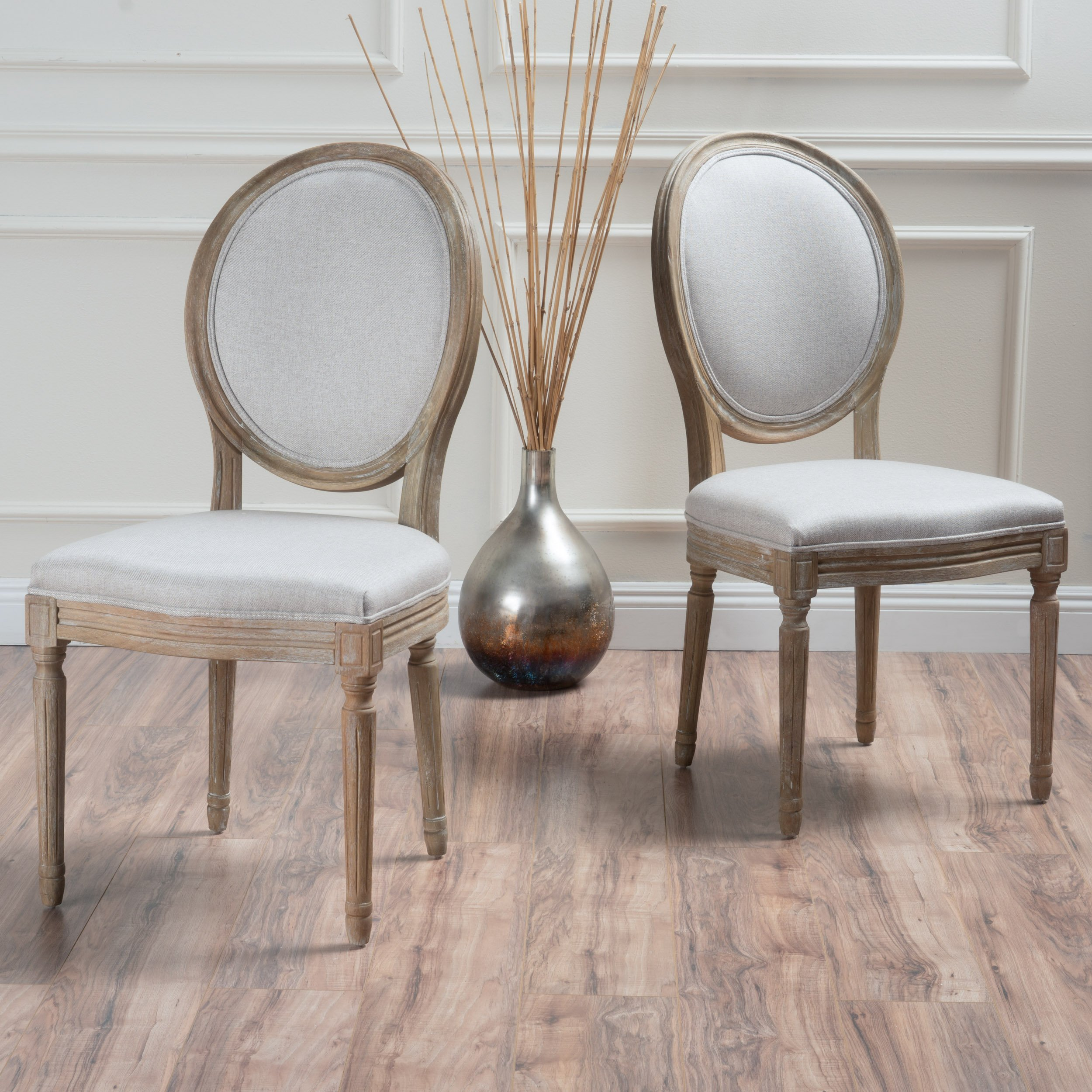 Christopher Knight Home 300258 Phinnaeus Beige Fabric Dining Chair (Set of 2),