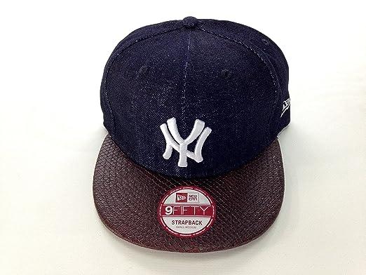 58b5694f NEW ERA - 9FIFTY STRAPBACK CAP. DENIM SNAKE NEW YORK YANKEES. brown/OTC