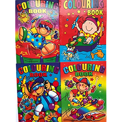20 Mini A6 Colouring Books Party Bag Filler PTY by WF Graham: Juguetes y juegos