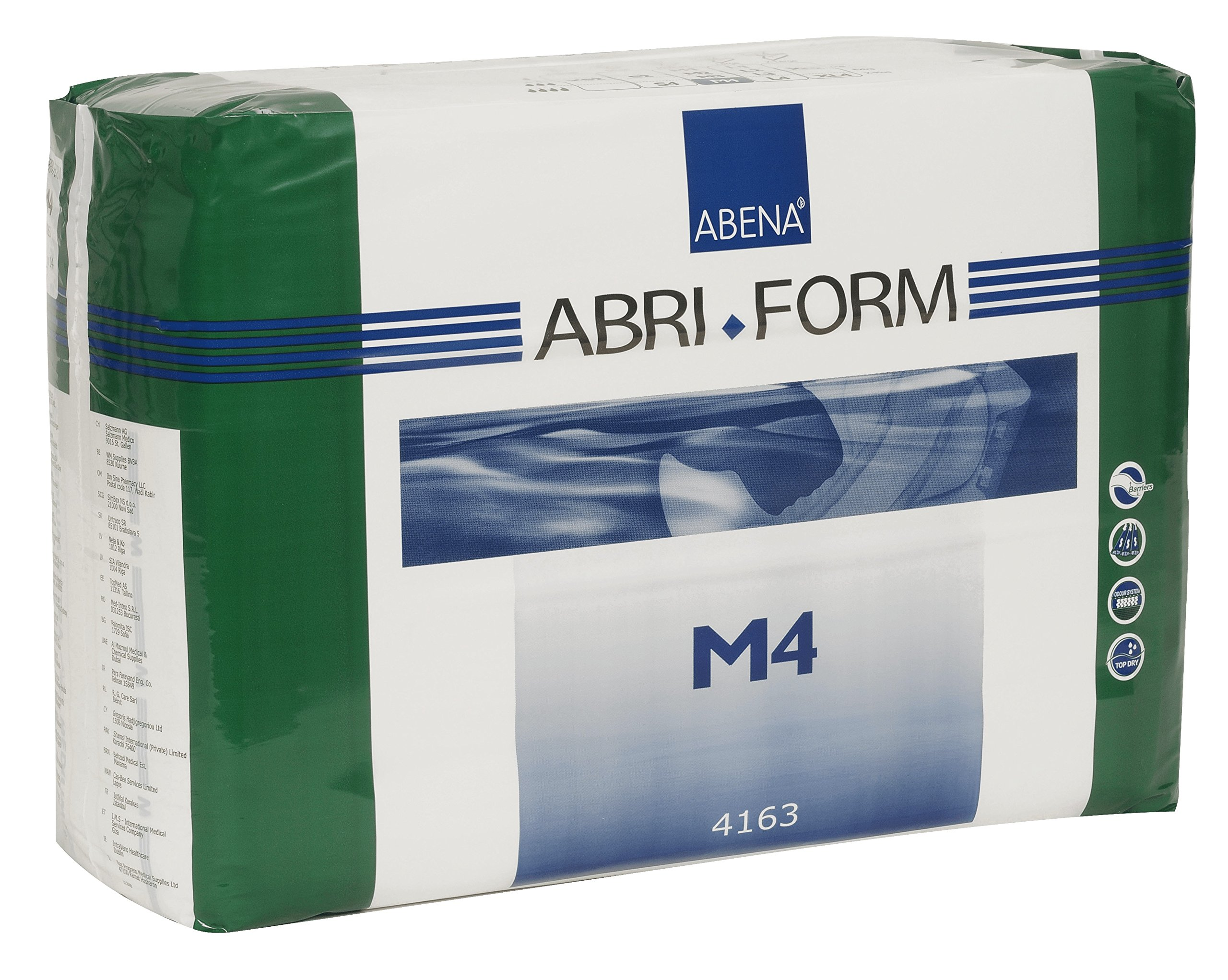 Abena Abri-Form Comfort Briefs, Medium, M4, 14 Count by Abena