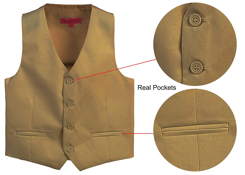 Gioberti Boys 4 Button Formal Suit Vest