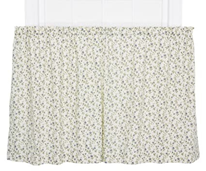 Ellis Curtain Marcia Floral Vine Print Tailored Tier Pair Curtains 68 By 24 Inch