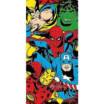Marvel- Toalla de Playa/Piscina de Personajes de cómic para niños (70cm x 140cm): Amazon.es: Hogar