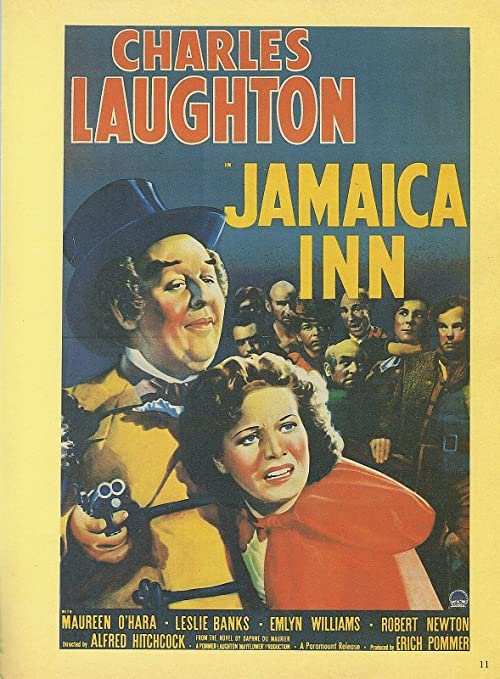 """1939/"""" ALFRED HITCHCOCK MINI POSTER Lithograph 1982 VINTAGE /""""JAMAICA INN"""