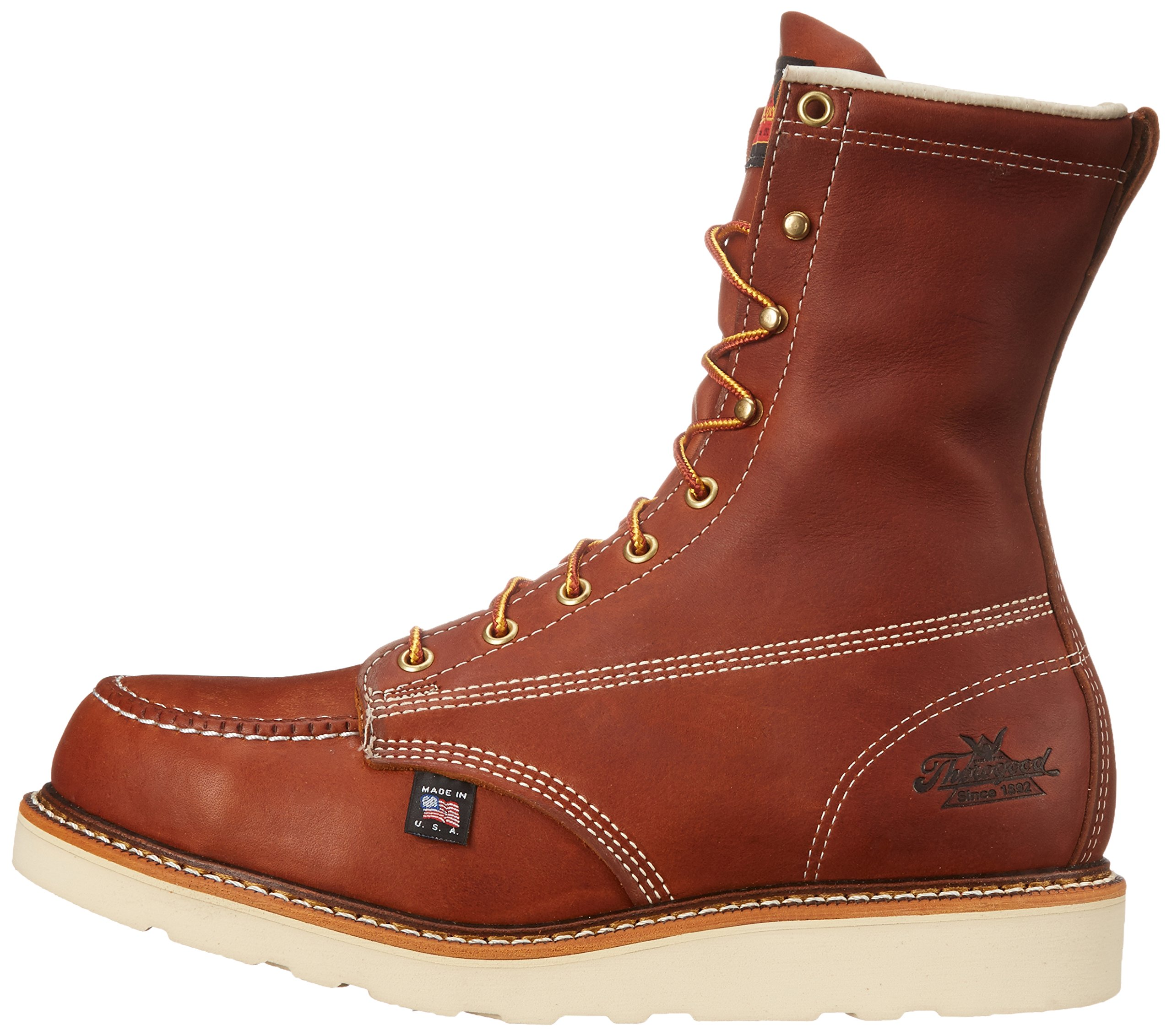 Thorogood Heritage 8'' Safety Toe Work Boot, Tobacco Oil Tanned, 10 EE US by Thorogood (Image #5)