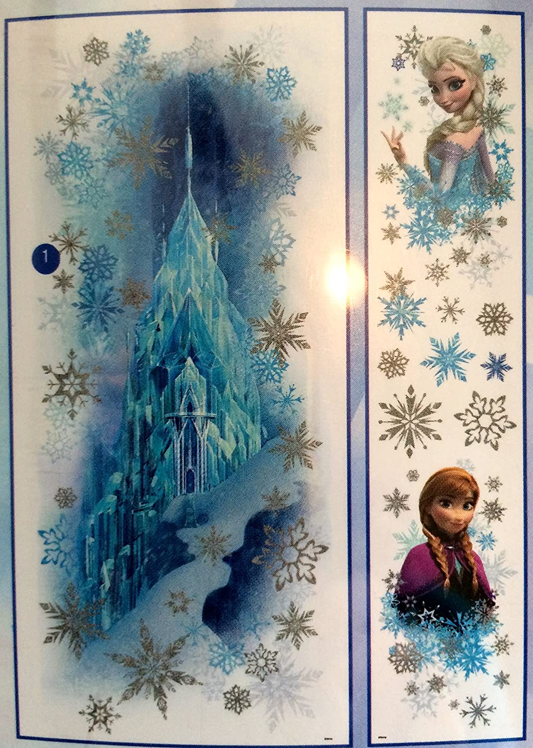 Amazon disney frozen wall decor mega pack 1 giant glittering amazon disney frozen wall decor mega pack 1 giant glittering decal of ice castle with headshot decals of anna and elsa 11 pieces and 25 more wall amipublicfo Choice Image