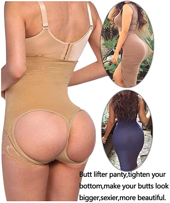 Hourglass Figure Butt Lifter Shaper Panties Tummy Control High Waisted Boyshort At Amazon Womens Clothing Store