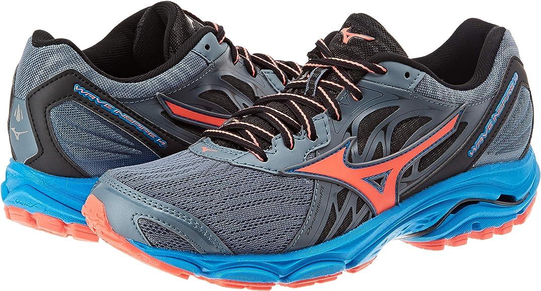 Mizuno Wave Inspire 14, Zapatillas de Running para Mujer, Azul (Blue Mirage/Fierycoral/Divablue 55), 36.5 EU: Amazon.es: Zapatos y complementos