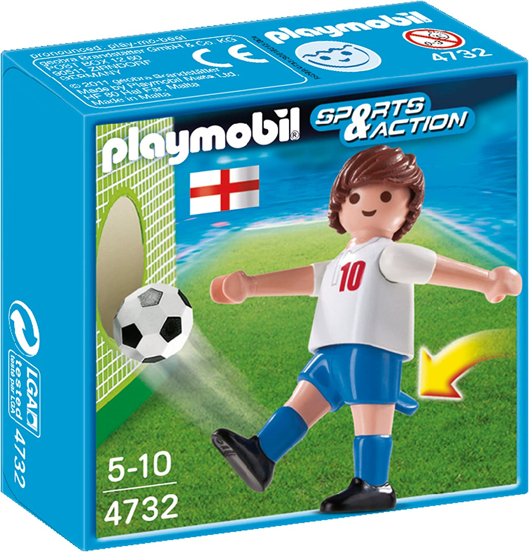 Playmobil Fútbol - Fútbol: Jugador Inglaterra (4732): Amazon.es ...