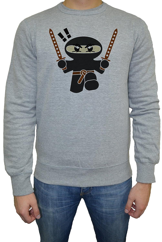 Ninja Hombre Sudadera Jersey Pullover Gris Todos Los Tamaños ...