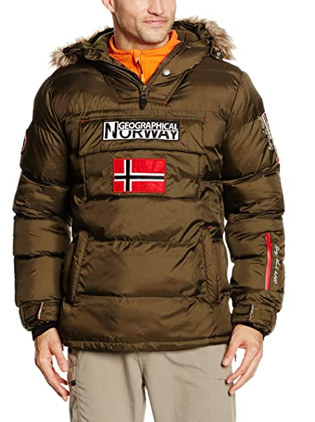 Geographical Norway Bolide, Chaqueta Bomber para Hombre, Verde (Kaki Militaire), Large: Amazon.es: Ropa y accesorios