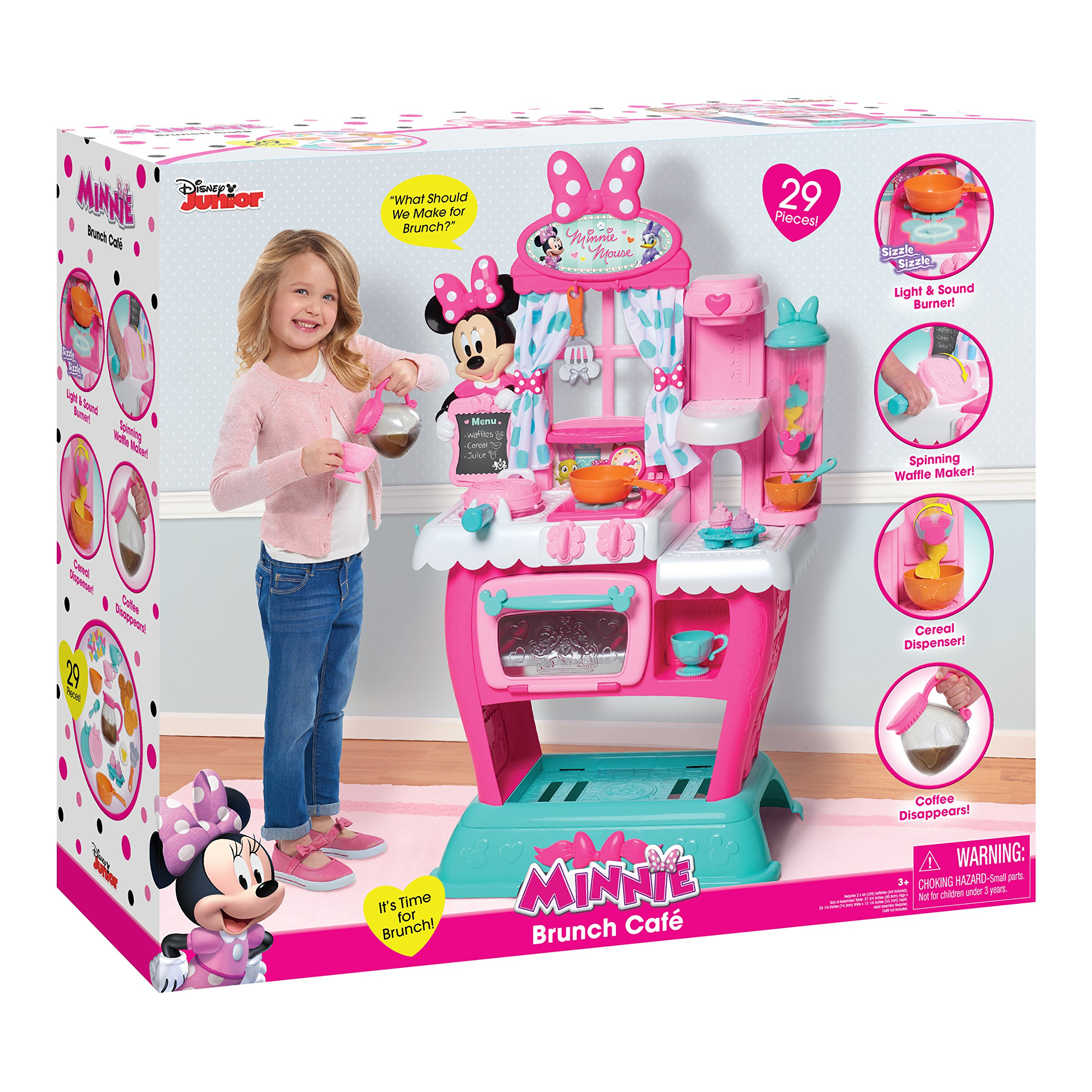 Minnie Mouse Play Kitchen: Minnie Mouse Pretend Play Cafe Kitchen Cooking Roleplay