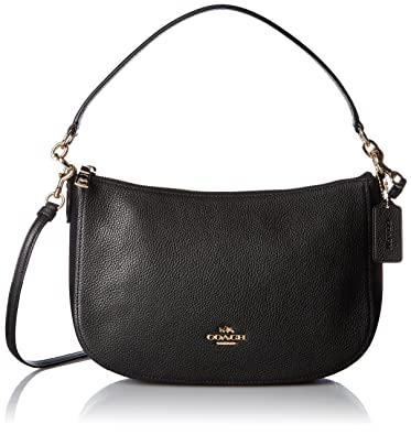 Leather Chelsea Cross Polished Bag Black Coach Pebbled Body qUTIxwCx