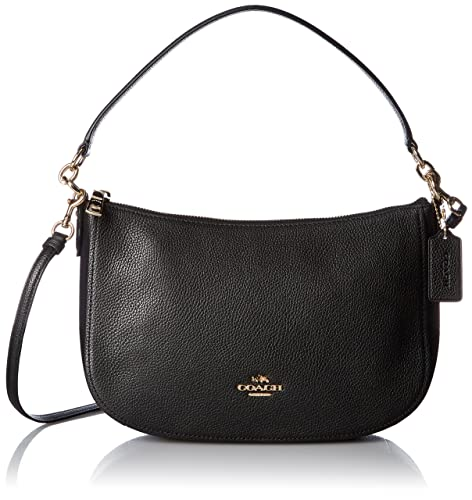 cdcbe59f3 Shoulder Bags Coach Women Leather Black and Gold 56819LIBLK Black 6.5x18x28  cm