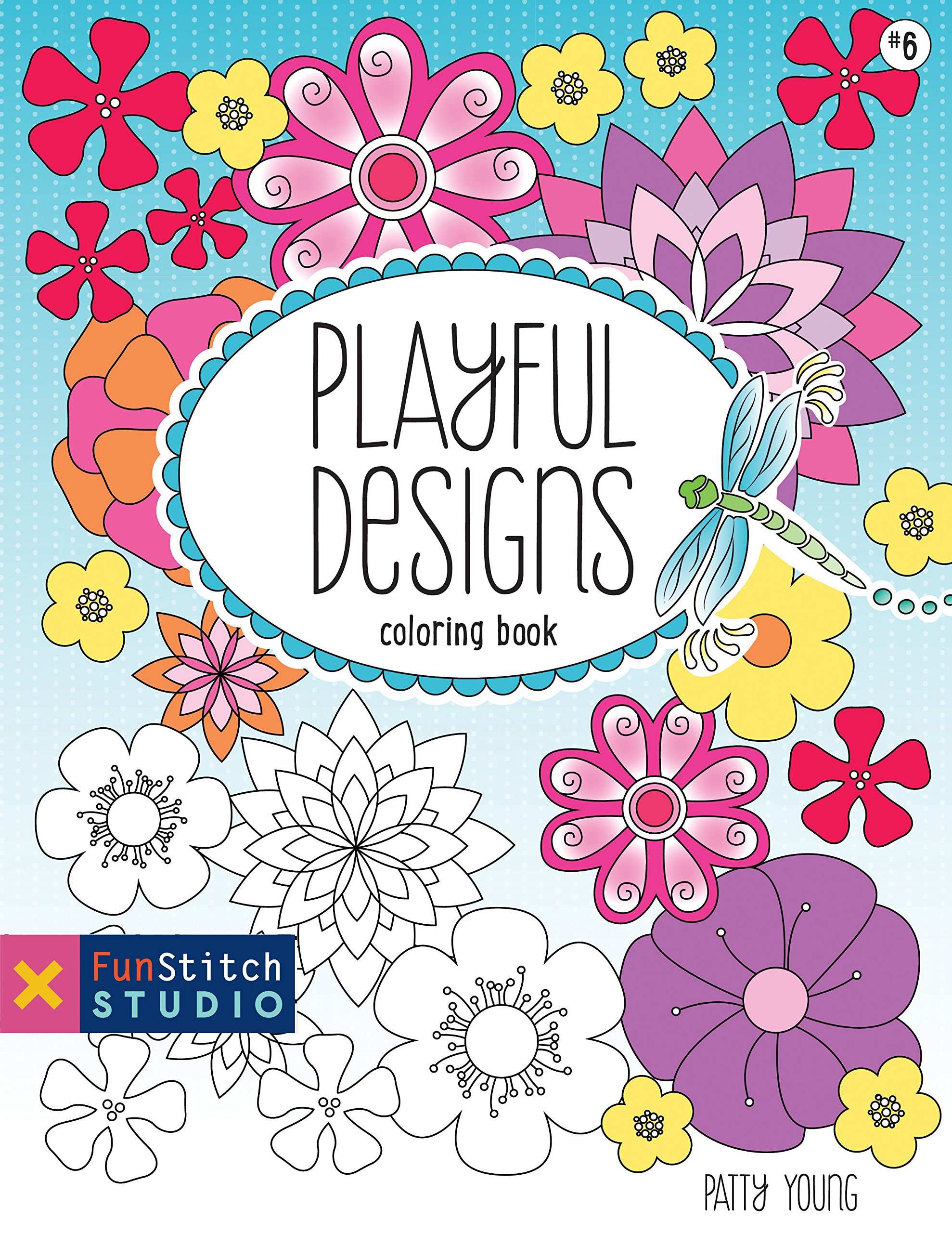 Download Playful Designs Coloring Book: 18 Fun Designs + See How Colors Play Together + Creative Ideas pdf epub