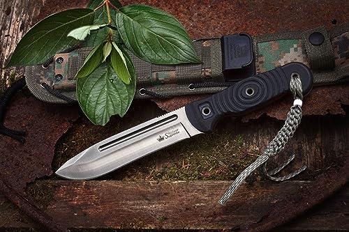 Kizlyar KK0020 Maximus D2 Russian Made Tactical Knife, Satin