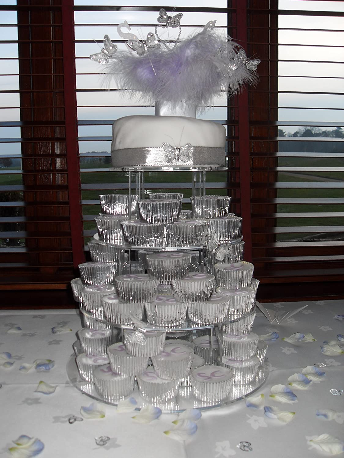 5 Tier 5mm Thick Acrylic Wedding Party Favour Cupcake Cake Stand By ClassikoolR Amazoncouk Kitchen Home