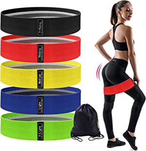 Resistance Bands for Legs and Butt,Exercise Bands Set Booty Hip Bands Wide Workout Bands Sports Fitness Bands Resistance Loops Band Anti Slip Squat Glute Hip Training