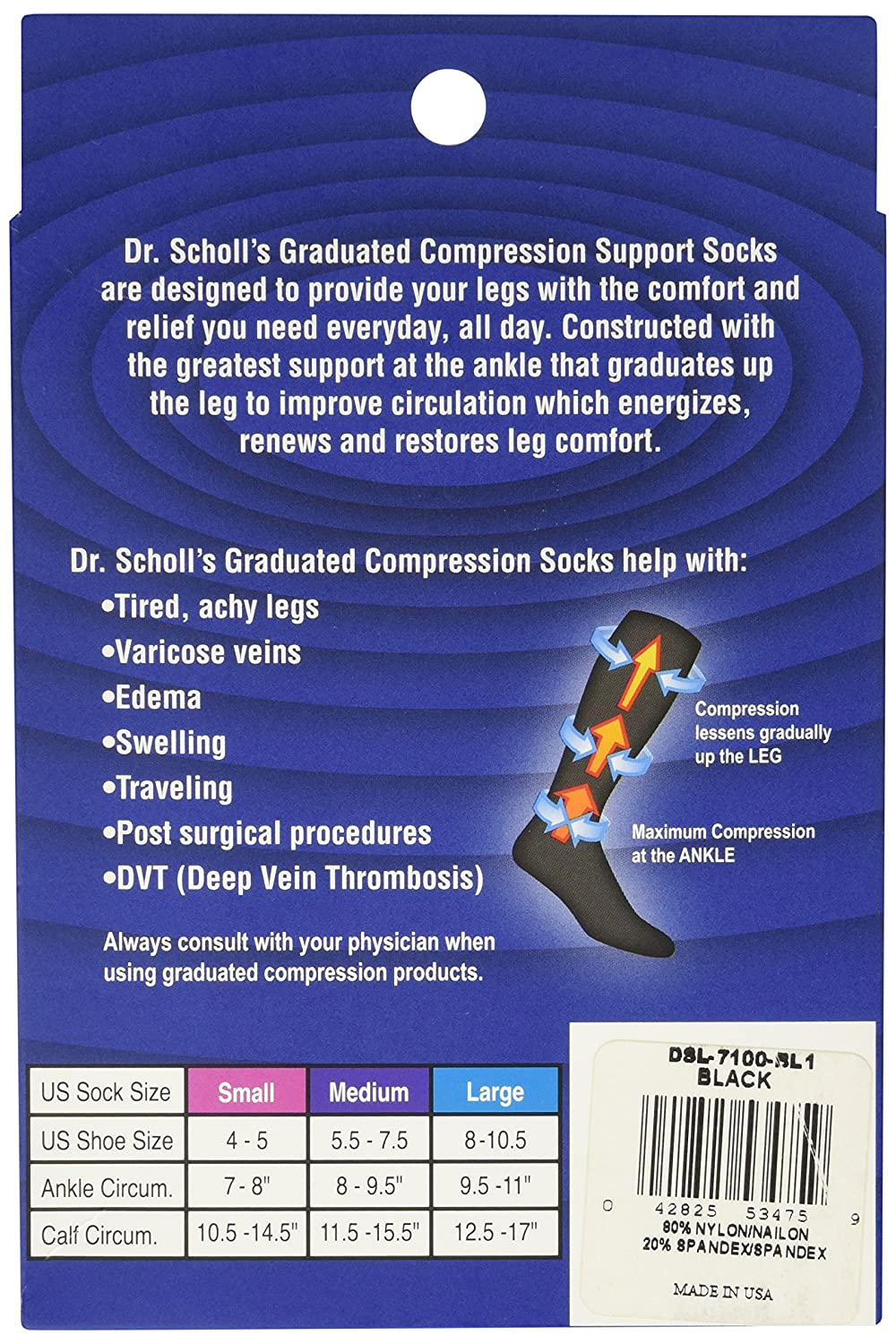 d5afd0eaca3 Amazon.com  Dr. Scholl s Women s Sheer Moderate Support Socks  Clothing