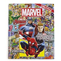 Marvel - Avengers, Guardians of the Galaxy, and Spider-man Look and Find Activity Book - Characters from Avengers Endgame Included - PI Kids