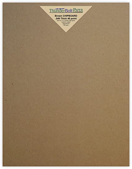 amazon com 25 sheets chipboard 46pt point 8 5 x 11 inches heavy