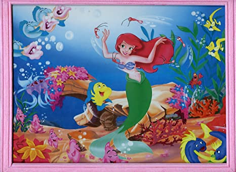 Amazoncom The Little Mermaid Print In Cotton Candy Pink Frame