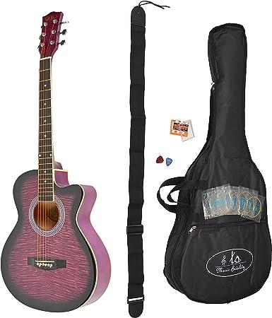 ts-ideen 4416 - Guitarra acústica (4/4, incluye funda y set de ...
