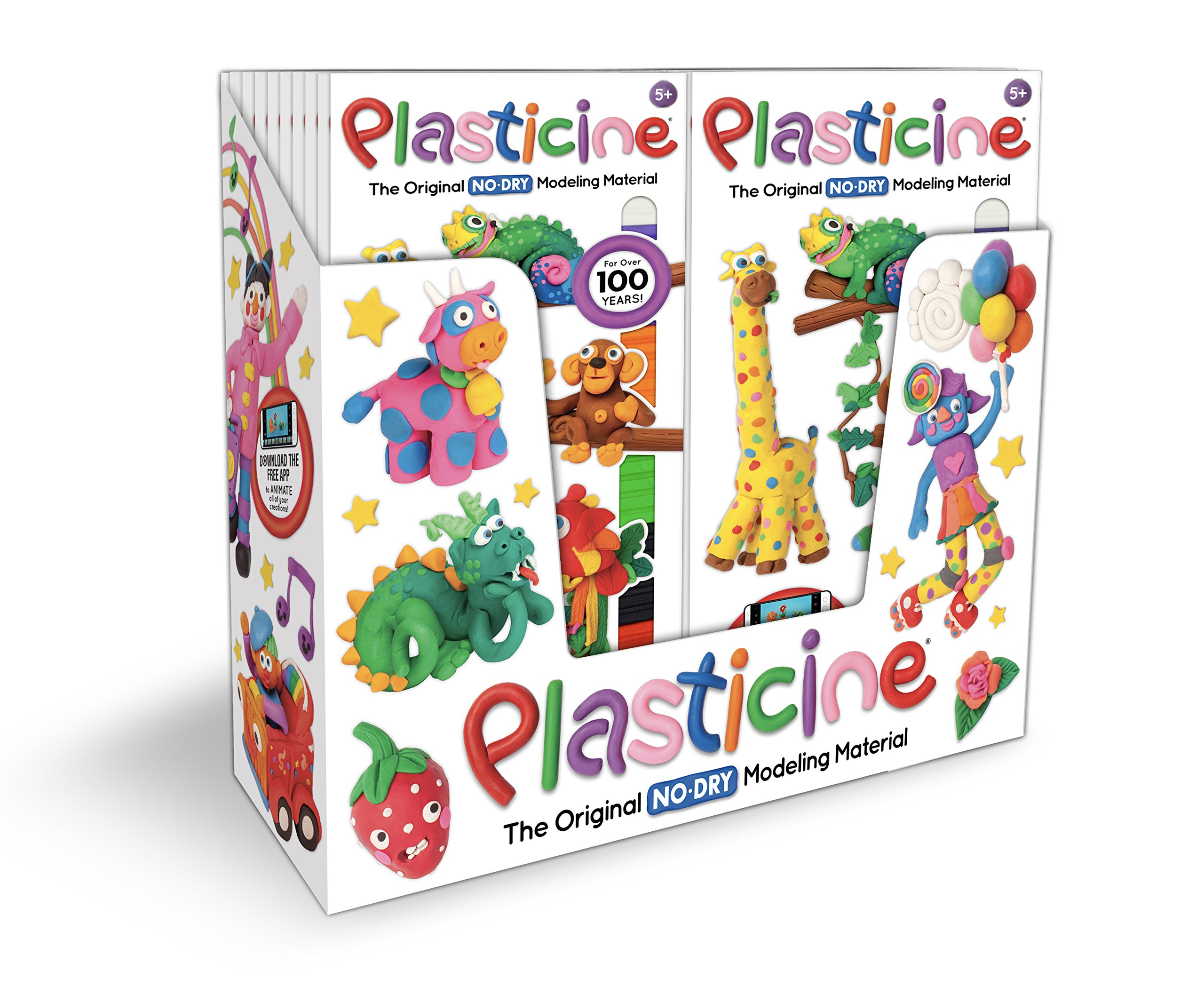Kahootz Plasticine 1252 12 Units of 24 Color Play Pack Pack of 12 Toys 01252