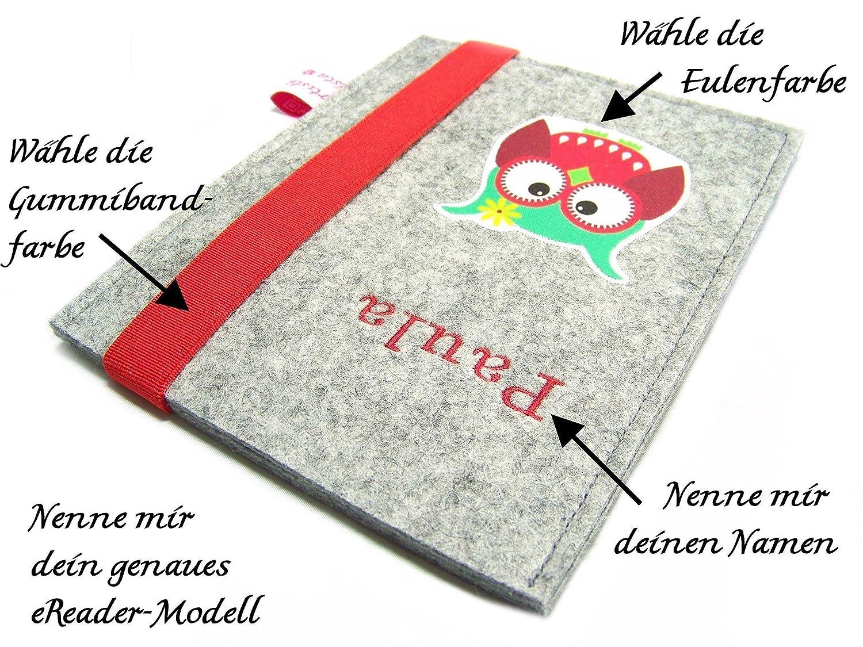 eBook Reader eReader Hülle Eulalia Wollfilz Filz inkl. Namensstickerei, Maßanfertigung