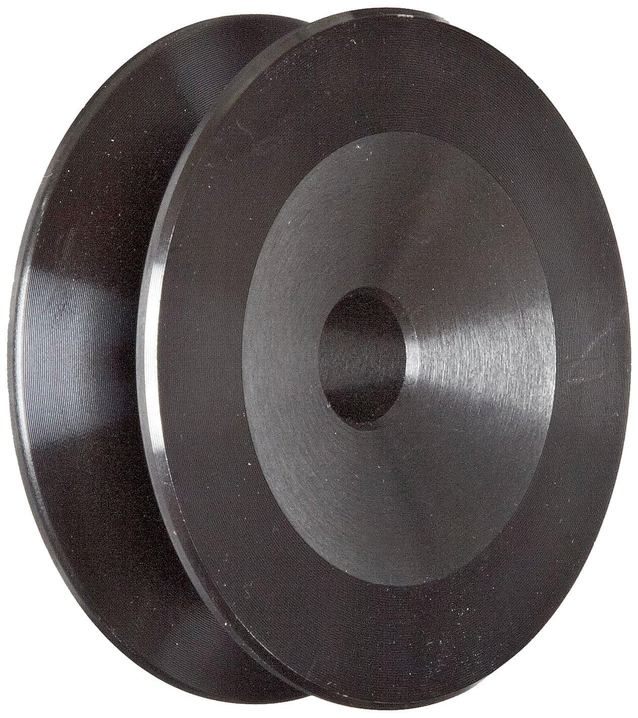 Martin BK27 P/B Plain Bore FHP Sheave, 4L/5L or B Belt Section, 1 Groove, 1/2'' Bore, Class 30 Gray Cast Iron, 2.7'' OD, 9189 max rpm, 2.1 Datum/2.5 Datum