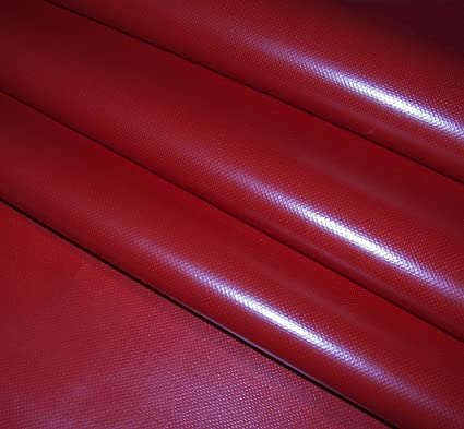 Amazon Com Vinyl Fabric 60 Width Red 18oz Vinyl Coated Polyester Sold By The Yard 36
