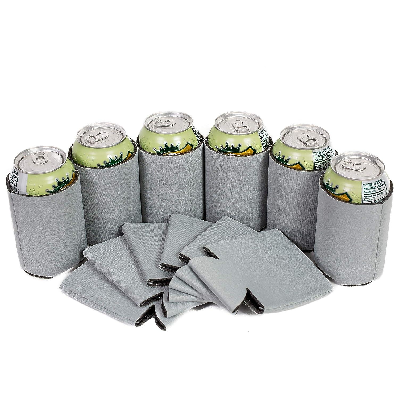 プレミアム空白Canクーラー袖Soft Drink Collapsible Insulator Coolers (50 , Frost Gray)   B07F3GX31B