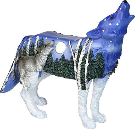 Amazon Com Westland Giftware Call Of The Wild Call Of The Wolf Resin Figurine Home Kitchen