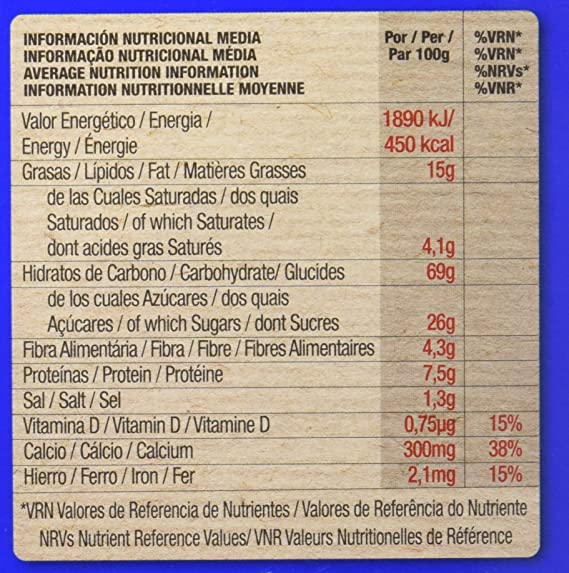 Artiach Chiquilín Ositos - Galletas de cereales sabor Chocolate, 450 g: Amazon.es: Alimentación y bebidas