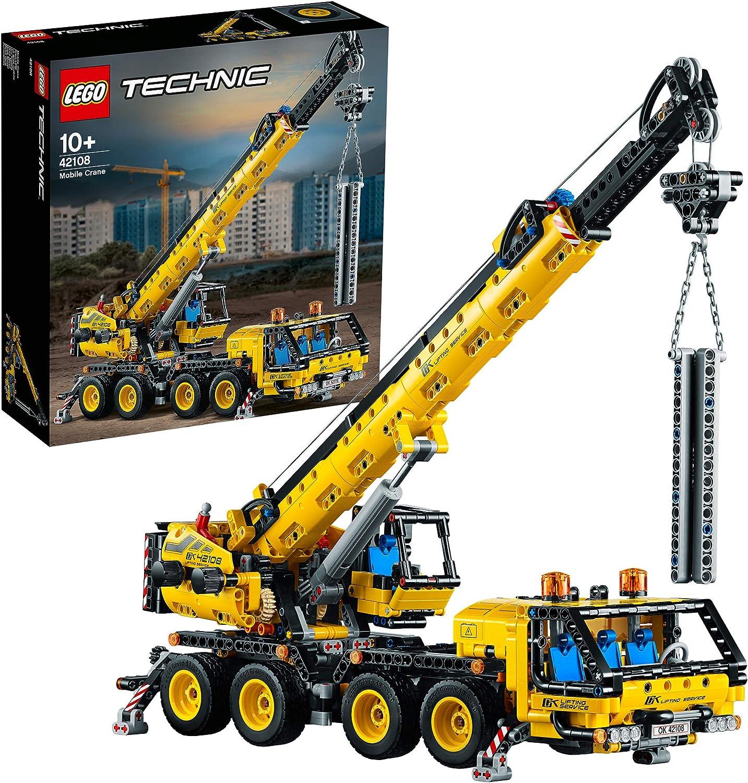 LEGO Technic - Grúa Móvil, Set de Construcción de Vehículo de Obra de Juguete con Brazo Móvil, Recomendado a Partir de 10 Años (42108) , color/modelo surtido