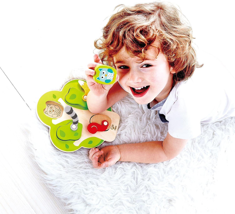 Multicolor Hape International-Hape E1616 Tier-Suchpuzzle Puzle Encajable /ÀRbol de Animales 60 x 80 cm