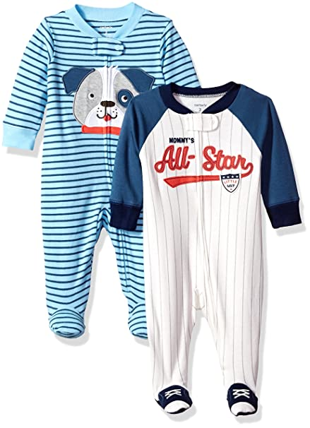 901f5b63ccc3 Amazon.com  Carter s Baby Boys  Cotton Sleep   Play (Pack of 2 ...