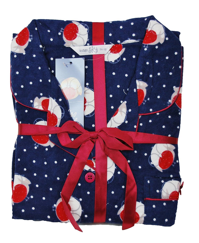 Pijama de algodón cepillado . Rojo Burdeos 46-48: Amazon.es: Ropa y accesorios