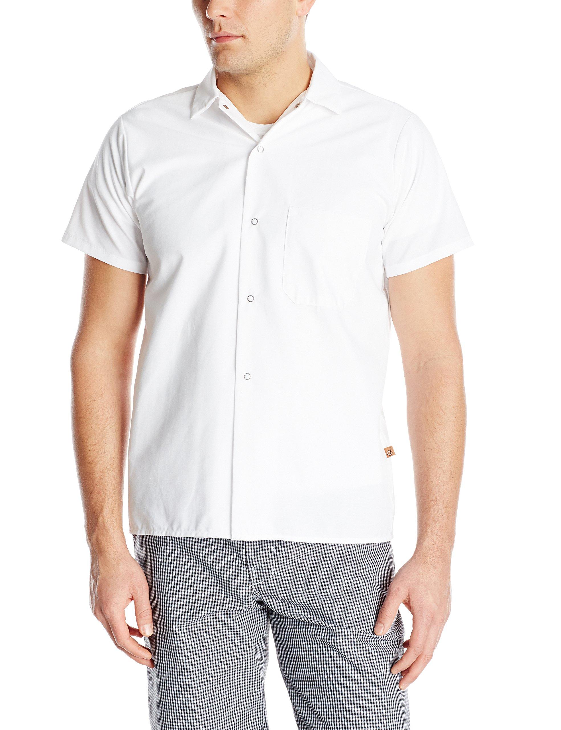 Red Kap Chef DesignsCook Shirt, White, Short Sleeve Small
